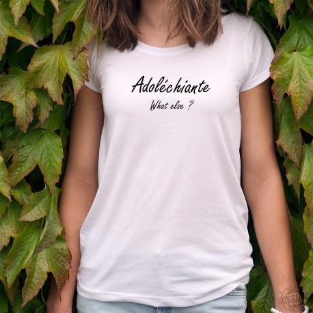 Adoléchiante, what else ? ★ T-Shirt agaçant pour adolescente chiante inspiré d'une publicité de George Clooney