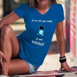 Donna cotone T-Shirt ❋ Vintage iPod ❋