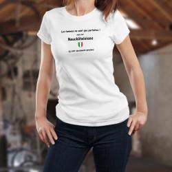 Les femmes ne sont pas parfaites ! mais les Neuchâteloises en sont sacrément proches ❤❤❤ T-Shirt mode dame écusson neuchâtelois