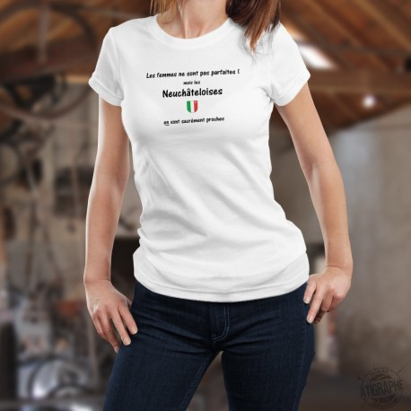 Donna moda T-shirt - Neuchâteloise, la femme presque parfaite