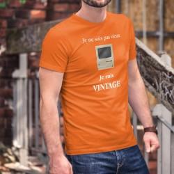 Vintage Apple Macintosh ★ Je ne suis pas vieux, je suis vintage ★ T-Shirt coton homme