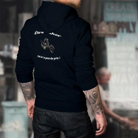 Cotton Hoodie T-Shirt -Etre Biker ★ ça n'a pas de prix ! ★
