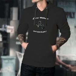Etre Biker ★ ça n'a pas de prix ! ★ Pull à capuche coton homme moto Chopper en couleur et phrase inspirée de la pub Mastercard