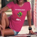 Generation eighties ★ Rubik's Cube ★ Women's cotton T-Shirt