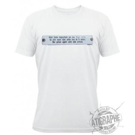"T-Shirt blanc unisex ""Objet solide"""
