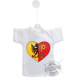 Mini T-shirt - Ginevra cuore - per automobile