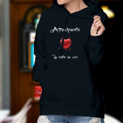 Cotton Hoodie T-Shirt - Attachiante ★ coeur diabolique ★