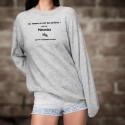 Women Sweatshirt - Motarde, la femme presque parfaite ❤