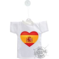 Mini T-shirt - Cuore Spagnolo - per automobile