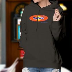 Vaudoise, c'est de la dynamite ! ✪  Pull à capuche coton dame inspirée du logo et du slogan publicitaire d'Ovomaltine