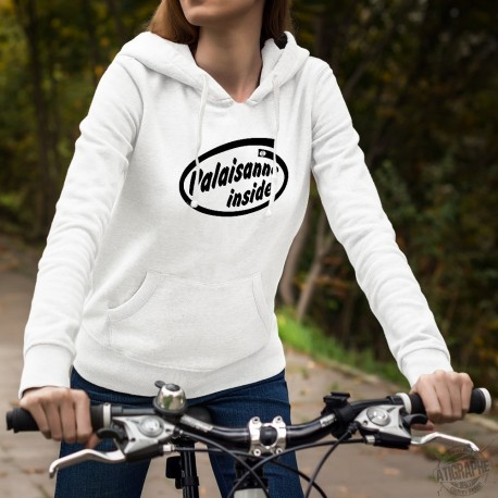 Frauen Kapuzen-Sweatshirt - Valaisanne inside
