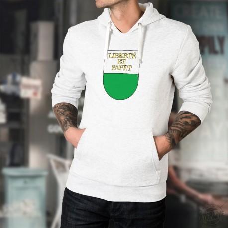 Liberté et Papet ★ papet vaudois ★ Pull à capuche mode homme - écusson canton de Vaud