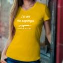 J'ai une fille magnifique, un Fass 90... ★ T-Shirt coton dame