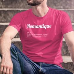 Romantique, adj. inv. Se dit d'un homme qui sait comment prendre une femme dans ses draps ★ T-Shirt coton homme