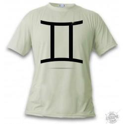 T-Shirt - Signe astrologique du Gémeaux - pour femme ou homme, November White
