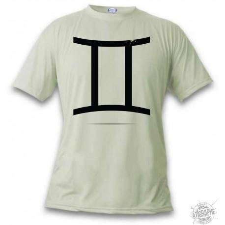 Women's or Men's astrological sign T-shirt - Gemini, November White