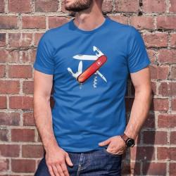 Couteau militaire suisse ✚ T-Shirt coton homme