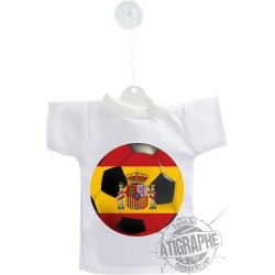 Car's Mini T-Shirt - Spain Soccer Ball