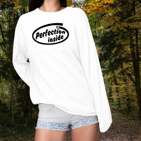 Perfection inside ★ Women's Funny Sweatshirt