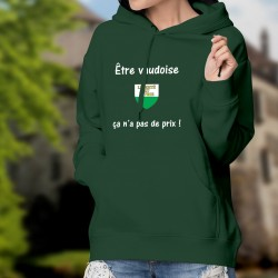 Maglione di cotone con cappuccio - Etre vaudoise ★ ça n'a pas de prix !