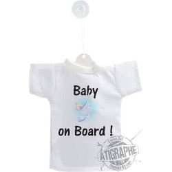 Mini T-Shirt - Baby on Board,  per automobile