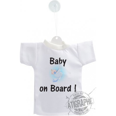 Car's Mini T-Shirt - Baby on Board, boy version