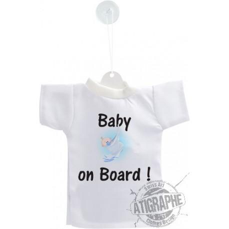 Mini T-Shirt - Baby on Board - version garçon, pour voiture