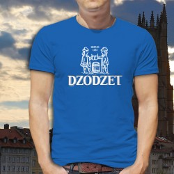 Dzodzet depuis 1481 ★ T-Shirt coton homme inspiré du logo Cardinal, célèbre marque de bière du canton de Fribourg
