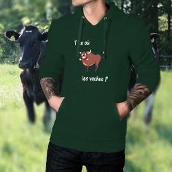 Maglione di cotone con cappuccio -T'as où les vaches ? ★