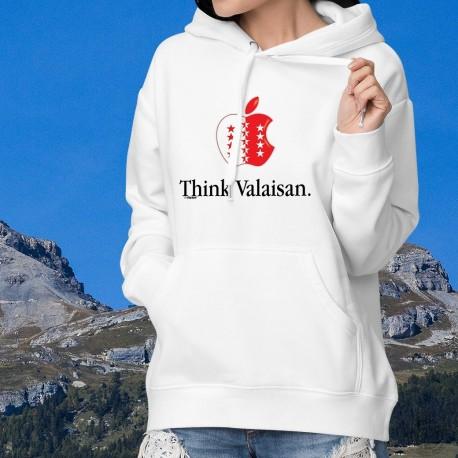 Kapuzen-Sweatshirt ★ Think Valaisan ★