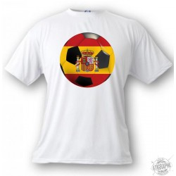 T-Shirt - Ballon de football espagnol , White