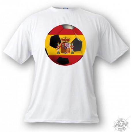 Women's or Men's T-Shirt - Spain Soccer ball, White