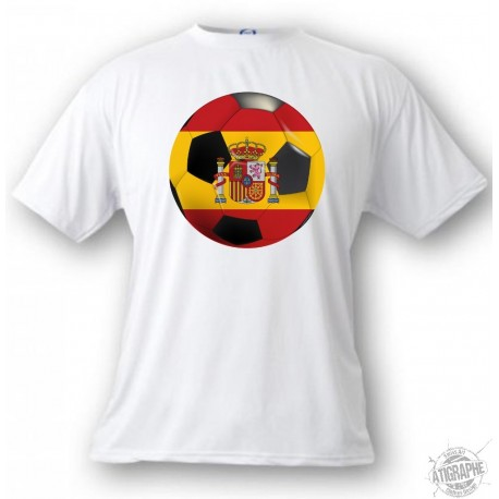 Women's or Men's T-Shirt - Spain Soccer ball, White