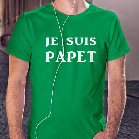 Je suis PAPET ★ T-Shirt coton mode homme en l'honneur du plat cantonal vaudois aux poreaux et à la saucisse aux choux