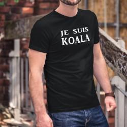 Je suis KOALA ❤ T-shirt coton homme pour l'Australie. Avec ce T-shirt vous faites un don de 6CHF au WWF pour l'Australie