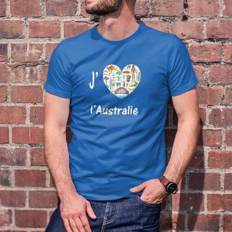 J'aime l'Australie ❤ Uomo Moda cotone T-Shirt per l'Australia