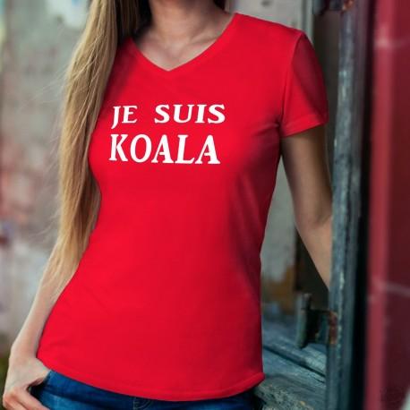 Je suis KOALA ❤ T-Shirt coton dame pour l'Australie. Avec ce T-shirt vous faites un don de 6CHF au WWF pour l'Australie