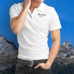 Raclette, What else ? ★ Raclette, was noch ★ Herrenmode Poloshirt inspiriert von ★ George Clooney ★ Werbung