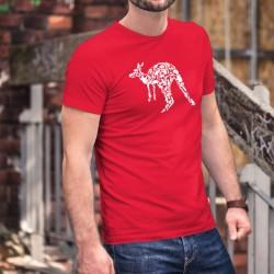 Patchwork-Känguru ★ Herren Baumwolle T-Shirt für Australien