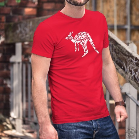 Kangaroo Patchwork ★ Men's cotton T-Shirt for Australia