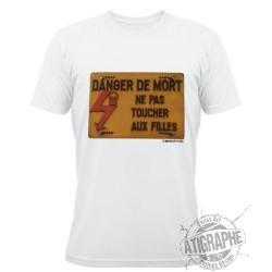 Men T-Shirt - Ne pas toucher aux filles électriques