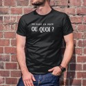 Men's cotton T-Shirt - On part en piste OU QUOI ? ★