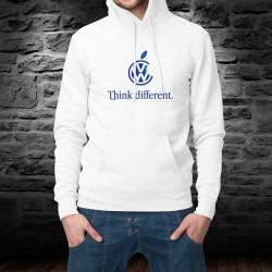 Volkswagen Think different ★ Pensa diversamente ★ felpa a cappuccio ispirata al marchio di smartphone
