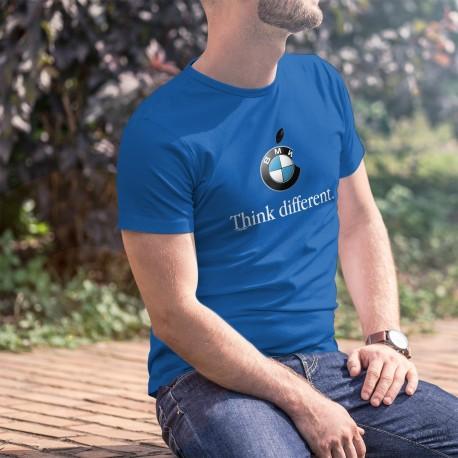 BMW Think different ★ penser différemment ★ T-Shirt coton homme avec le logo du Bayerische Motoren Werke à la mode Apple