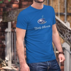 Subaru Think different ★ penser différemment ★ T-Shirt coton homme avec le logo Subaru inspirée d'une marque de smartphones
