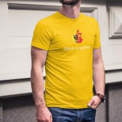 Uomo Moda cotone T-Shirt - Think Genevois ★