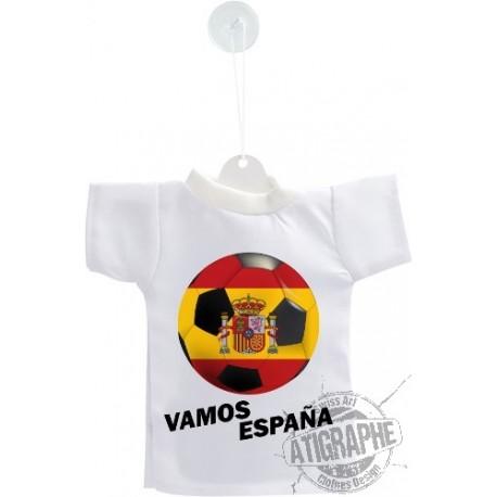 Football Mini T-Shirt - Vamos España - pour voiture