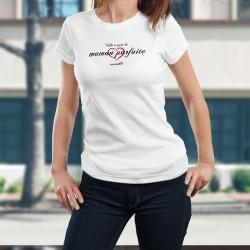 Donna moda T-shirt - La maman parfaite ❤