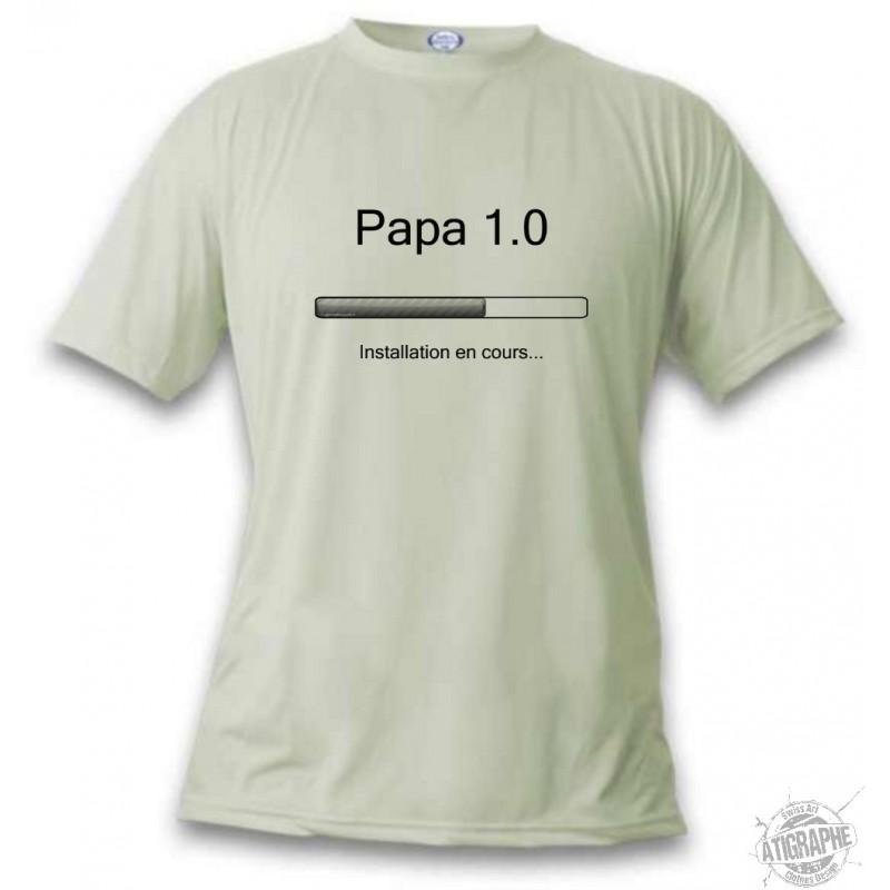 t shirt humoristique mode homme papa 1 0. Black Bedroom Furniture Sets. Home Design Ideas