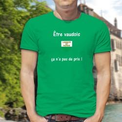 Men's Fashion cotton T-Shirt - Etre vaudois ★ ça n'a pas de prix ! ★